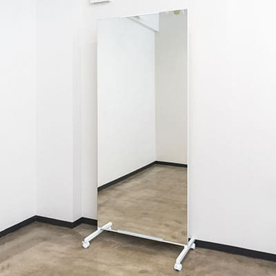 Movable large mirror